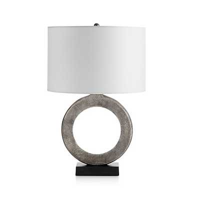 Crest Table Lamp with White Shade - Crate and Barrel