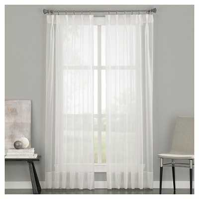 """Curtainworks Soho Voile Curtain Panel-Oyster-144"""" - Target"""