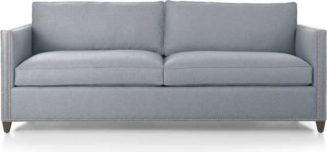 Dryden Sofa with Nailheads - Silvermist - Crate and Barrel
