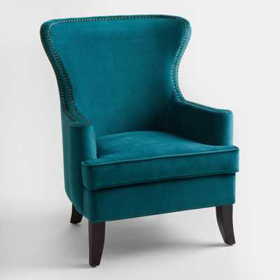 Pacific Blue Elliott Wingback Chair - World Market/Cost Plus