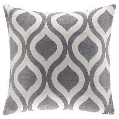 """Mestre Chenille Grey 20"""" Square Pillow - Target"""