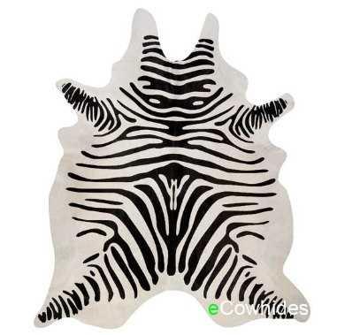 Zebra Cowhide Rug Cow Hide Rugs on Sale! - Etsy