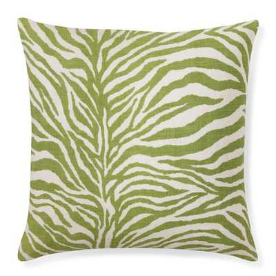 Printed Zebra Pillow Cover, Green - Williams Sonoma
