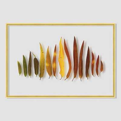 Still Acrylic Wall Art - Willow Leaves - 24x16 - Framed - West Elm