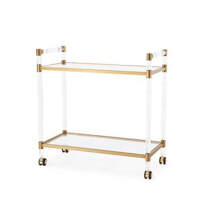 Bronson Bar Trolley, Antique Gold - Overstock
