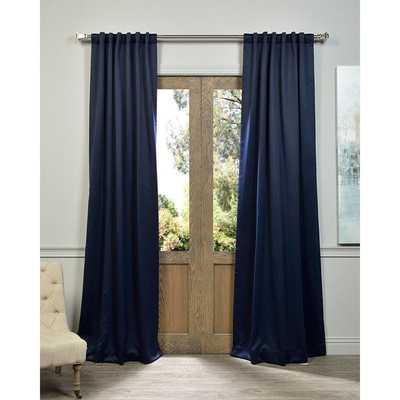 "Blue Thermal Blackout Curtain Panel Pair - 100"" x 84"" - Overstock"