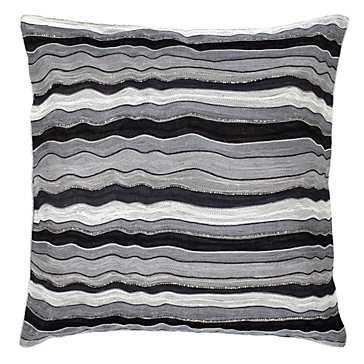 "Madrid Pillow 22"" -Insert included, metallic - Z Gallerie"