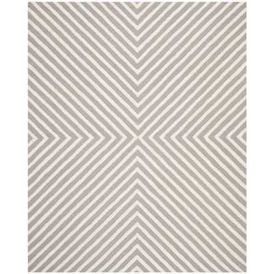 Safavieh Hand-tufted Moroccan Cambridge Silver/ Ivory Wool Rug (8' x 10') - Overstock