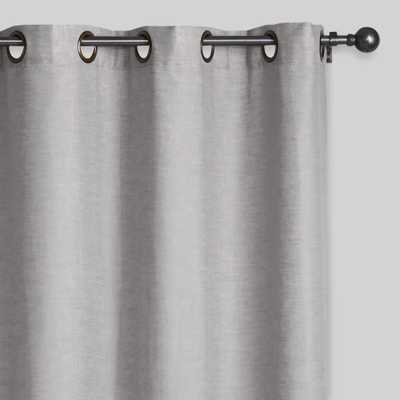 Slate Gray Linen Grommet Top Curtains, Set of 2 - World Market/Cost Plus