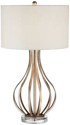 Open Gourd Table Lamp,  with a drum shade - Lamps Plus