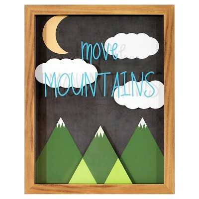 Move Mountains Framed Art - 14x11 - Target