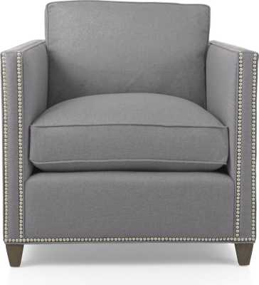 Dryden Chair with Nailheads - Fog - Crate and Barrel