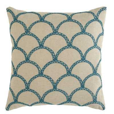 Sabrina Pillow Cover Teal - 18x18 - No Insert - Birch Lane