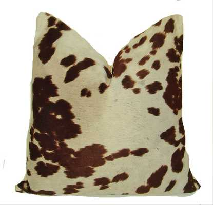 Decorative Designer -Chocolate Brown Cow print Pillow Cover - Etsy