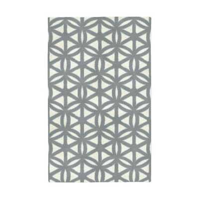 Circle Lattice Special Order Rug - Light Background - 5' x 8' - West Elm