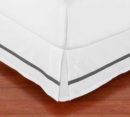 Morgan 400-Thread-Count Bed Skirt - Queen, Flagstone Grey - Pottery Barn