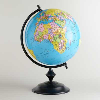 Blue Globe with Bronze Stand - World Market/Cost Plus
