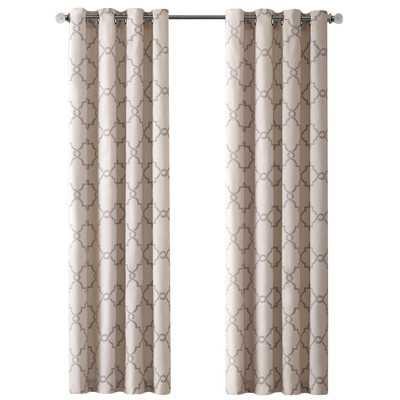 "Saratoga Single Curtain Panel - Beige - 63"" L x 50"" W - Wayfair"