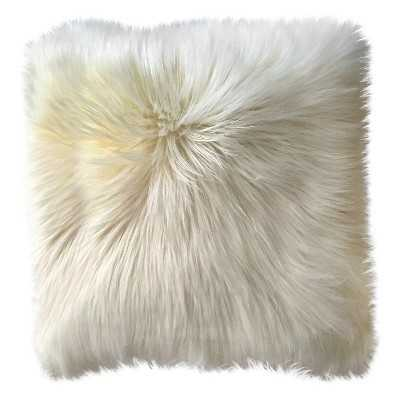 Long Haired White Fur Pillow - Target