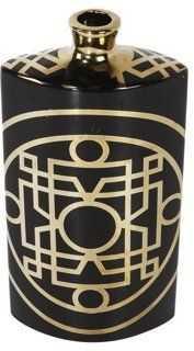 Deco Vase, Black/Gold - One Kings Lane