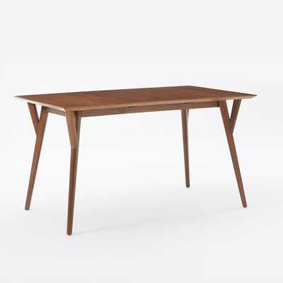 Mid-Century Expandable Dining Table - Walnut, Medium - West Elm