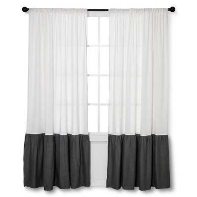 Ecom Curtain Panels homethreads BLK WHT Solid - Target