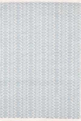 FAIR ISLE SWEDISH BLUE/IVORY COTTON WOVEN RUG - 2x3 - Dash and Albert