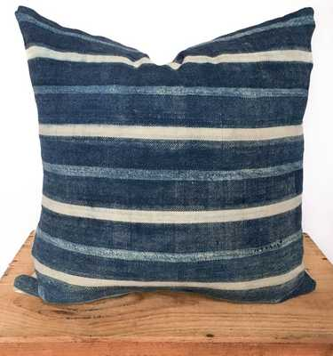 """18"""" Inch Striped Indigo Pillow Cover - Insert Sold Separately - Etsy"""