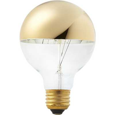 g25 gold tipped 40w light bulb - CB2