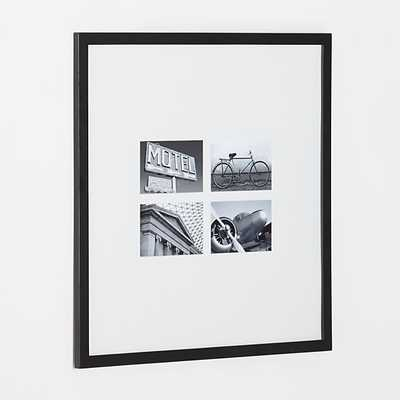 Matte Black Four 4x6 Wall Frame - Crate and Barrel