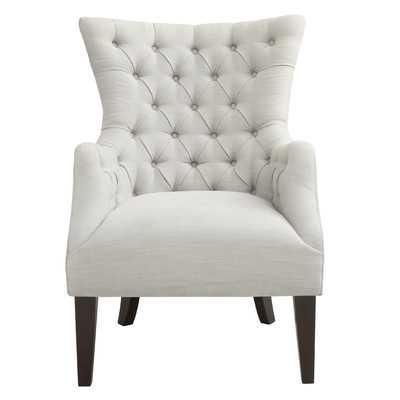 Hannah Button Tufted Wing Back Arm Chair - Wayfair