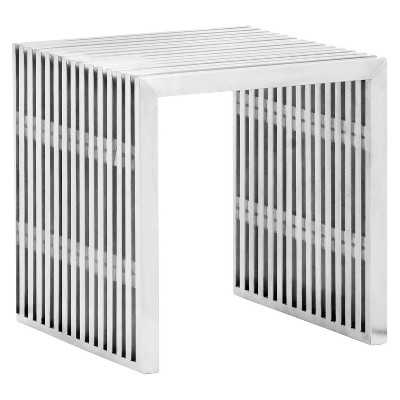 Novel Single Bench - Brushed Stainless Steel - Target