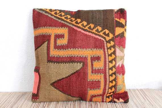 Tokat Vintage Kilim Pillow Cover - Etsy