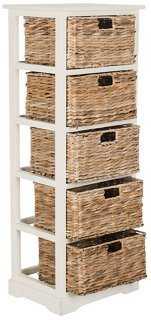 Everly 5-Basket Storage Chest, White - One Kings Lane