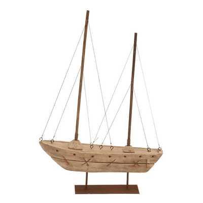 Wood Boat Nautical Maritime Decor - Overstock