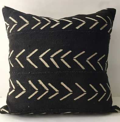 African Mudcloth Pillow Cover, Ethnic, Handwoven, Black and Tan, Various Sizes - Etsy