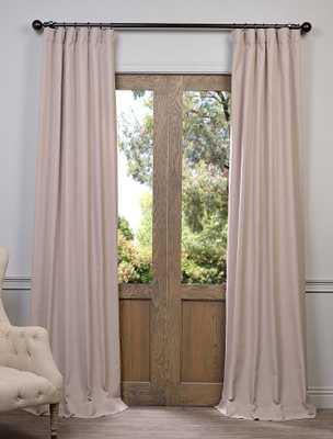Latte Heavy Faux Linen Curtain-96L - halfpricedrapes.com