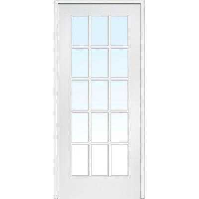 Classic Clear Glass 15-Lite Composite Single Prehung Interior Door - Home Depot