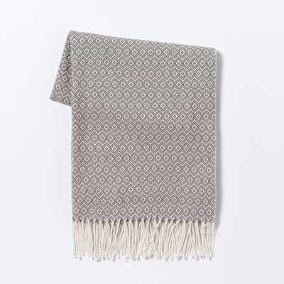 Warmest Throw - Diamond Jacquard - West Elm