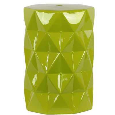 Ceramic Diamond Garden Stool - Green - Wayfair
