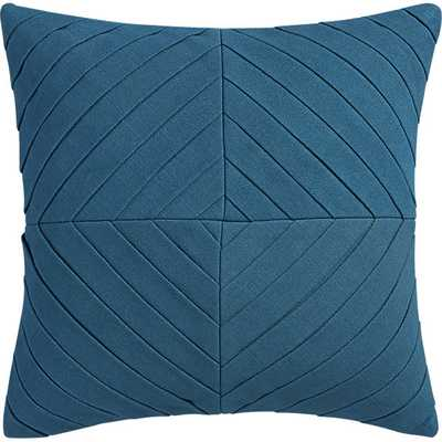 "Meridian blue-green 16"" pillow with feather insert - CB2"