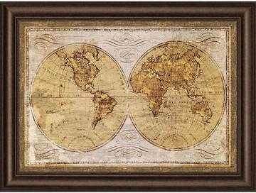 """OLD WORLD MAP FRAMED WALL ART - 32""""H x 44""""W - Home Decorators"""