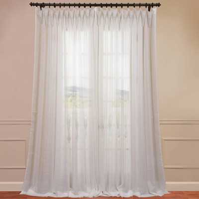 "Wide Sheer Single Curtain Panel - White - 84"" - Wayfair"