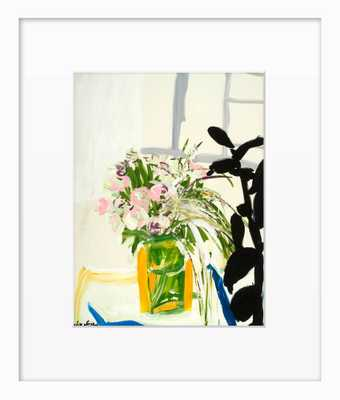 Flower on a Table - 22x18 - Framed - Domino