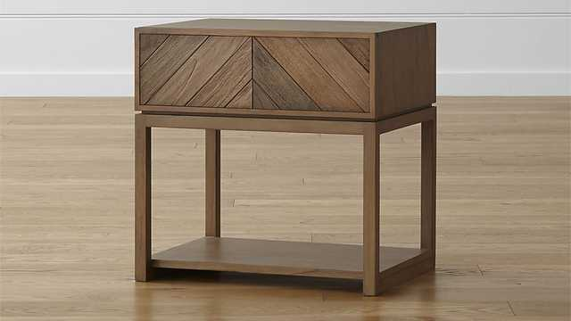 Chevron Nightstand - Crate and Barrel