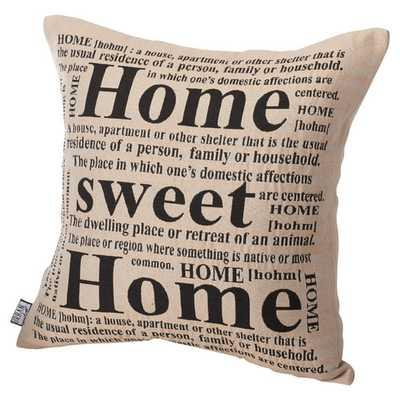 """Home Sweet Throw Pillow - 20"""" H x 20"""" W - Feather fill - Wayfair"""