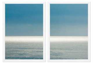 "Sea Horizon Diptych - 36"" x 25"" - Framed - One Kings Lane"