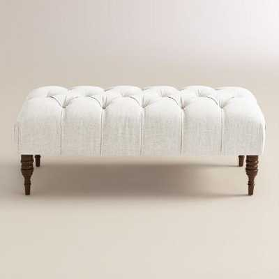 Linen Clare Tufted Upholstered Bench - World Market/Cost Plus