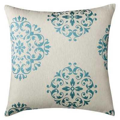 Oversized Seville Toss Pillow - Turquoise (24x24), fill - Target