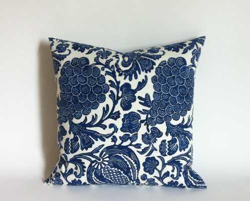 "One indigo/Dark Blue Ikat pillow cover - 20"" x 20"" - Insert Sold Separately - Etsy"